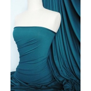 Teal Viscose Cotton Stretch Lycra Fabric Q300 TL