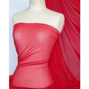 Tomato Red LT Power Mesh 4 Way Stretch Fabric 109LT TRD