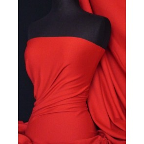 Red Soft Fine Rib 100% Cotton Knit Q61 RD