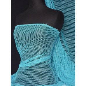 Turquoise Fishnet / Net Stretch Fabric Q319 TQS