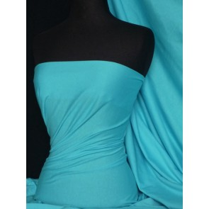 Turquoise Stretch Light Cotton Jersey Fabric T-Shirts Q1249 TQS