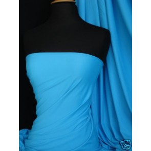 Turquoise Viscose Cotton Stretch Jersey Lycra Fabric