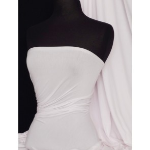 White Light Weight Cotton Lycra Fabric Q1140 WHT