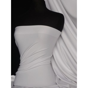 Seconds White Scuba 4 Way Stretch Poly Lycra SCSB WHT