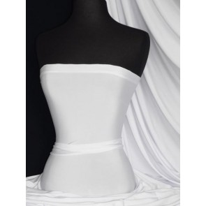 Seconds White Silk Touch 4 Way Stretch Jersey Lycra Fabric SCSLK WHT