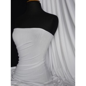 Pure white heavy viscose cotton stretch lycra fabric Q896 WHT