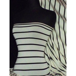 wide stripe viscose cotton stretch fabric Q724 CRMBK