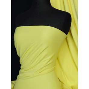 Yellow cotton interlock jersey fabric tubular width Q272 YL